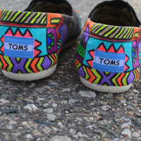 Custom Tribal Print Toms- Partial