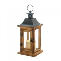 Classical Square Lantern With Led Candle