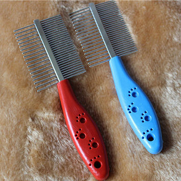 Dog Grooming Stainless Steel Anti-static Two-sized Comb