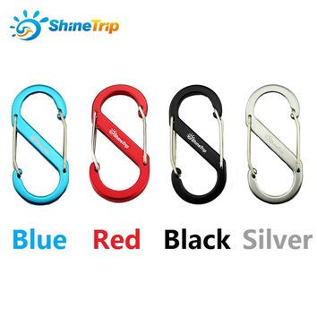 5Pcs Aluminum Alloy S Shape Carabiners Double Gated Keychain Clip Hook Locking Carabiner Multi-functional Outdoor Camping Tools