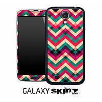 Abstract Colorful Chevron Pattern Skin for the Galaxy S2, S3 or S4