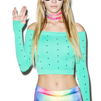 Verona Mint Chip Baby Crop Top One