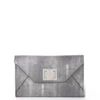 BCBG Runway Mattie Stingray-Embossed Clutch