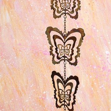 Cutout Butterfly Hanging Ornament 5pc - New item! Pre-order for August!