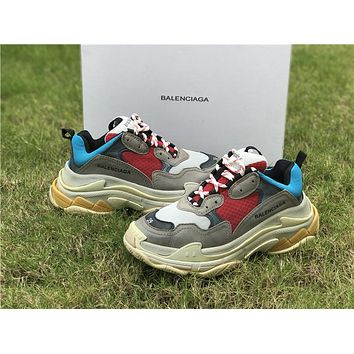 Fashion Balenciaga Triple S DSM Casual Shoes Clunky Sneakers