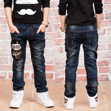 Children's jeans 2018 New Fashion boys jeans with spring autumn Jeans boys for age 2 3 4 5 6 7 8 9 11 12 13 14 years old 86205