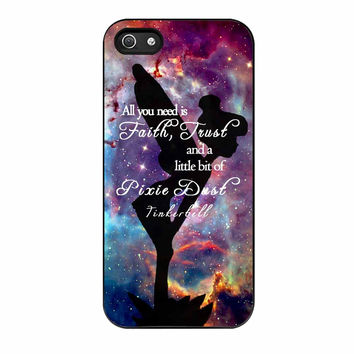 Tinkerbell Quote iPhone 5s Case