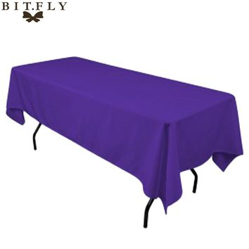 5pcs/ Pack  Rectangular Satin Tablecloth 21 colors Table Cover for Wedding Party Restaurant Banquet Decorations