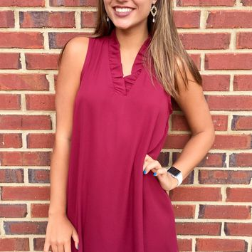Garnet Game Day Dress - Garnet