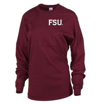 Official NCAA Florida State University Seminoles FSU Noles Women's Long Sleeve Spirit Wear Jersey T-Shirt