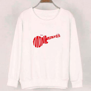 the monkees sweater White Sweatshirt Crewneck Men or Women for Unisex Size with variant colour