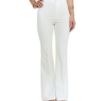 White All About That Flare Pants