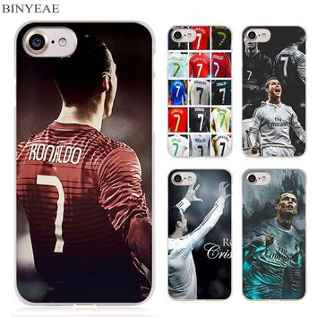Cristiano ronaldo cr7 Clear Cell Phone Case Cover for Apple iPhone 4 4s 5 5s SE 5c 6 6s 7 Plus