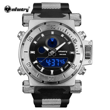 Watch Fashion Men Watches Analog Digital Watch Military Silicone Waterproof Hombre