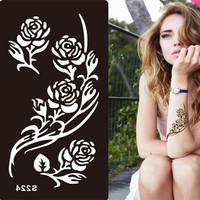 1pcs Stencils for Tattoo Henna Tattoo Stencil for Face Painting Templates Mehendi Airbrush Glitter Temporary Body Paint Art