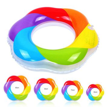 Summer Inflatable Ring Colorful Windmill Pattern Circle For Swimming water sports Swimming Pool Boardwalk Swim Ring