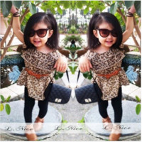 Girls 2 PC Leopard Outfit