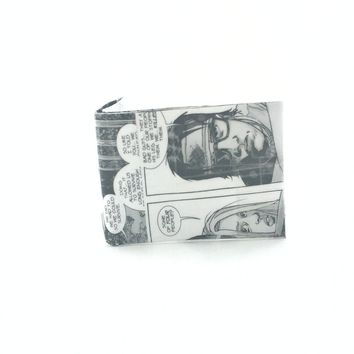 Cool Billfold Wallets For Men, Small Black and White Bifold Wallet