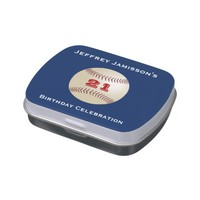 Jelly Belly Candy Tin Baseball Party Favor 21 Yrs