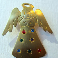 Vintage JJ Pin Angel- Jonette Jewelry brooch - Unique gift under 20- Artifacts collectible 1986- Angel gift