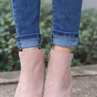 Take It Easy Booties, Nude