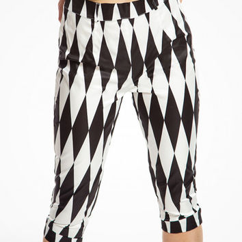 Kendra Black Harlequin Capri Trousers | Vintage Inspired Fashion | Lindy Bop