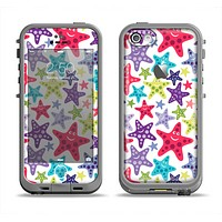 The Smiley Faced Vector Colored Starfish Pattern Apple iPhone 5c LifeProof Fre Case Skin Set