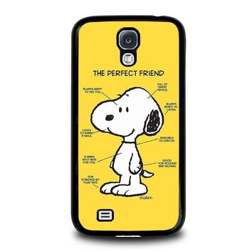 snoopy dog perfect friend samsung galaxy s4 case cover  number 1