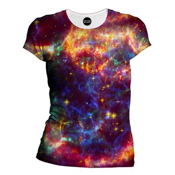 Nebula Of Colors Womens T-Shirt
