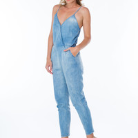 Light Day Surplice Chambray Jumpsuit GoJane.com