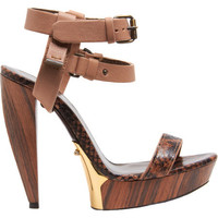 Lanvin Double Ankle Strap Platform Sandal at Barneys.com