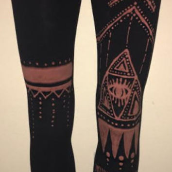 Third Eye Bleach Leggings