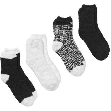 Women's Striped Cozy Socks - 4 Pack - Walmart.com