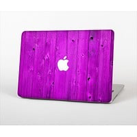 """The Purple Highlighted Wooden Planks Skin Set for the Apple MacBook Pro 15"""" with Retina Display"""