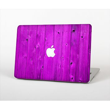 "The Purple Highlighted Wooden Planks Skin Set for the Apple MacBook Pro 15"" with Retina Display"