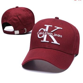 CK Calvin Klein Popular Women Men Embroidery Sports Sun Hat Baseball Cap Hat