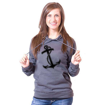 Anchor American Apparel Pullover Hoodie by rainbowswirlz on Etsy
