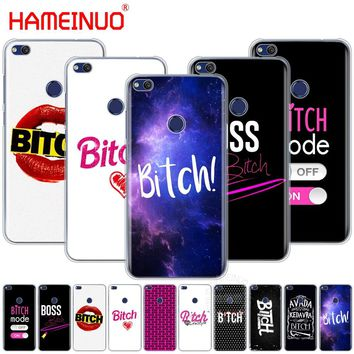 HAMEINUO Bitch mode on pink boos Cover phone Case for huawei Ascend P7 P8 P9 P10 P20 lite plus pro G9 G8 G7 2017