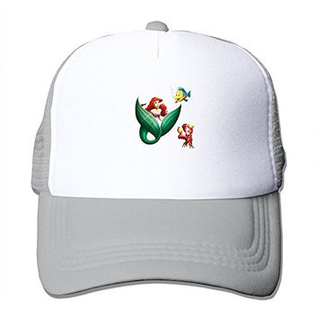 Custom Your Own Adult Unisex The Little Mermaid Characters 100% Nylon Mesh Caps One Size Fits Most Adjustable Trucker Hat