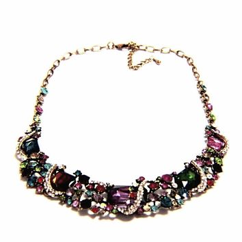 Victorian Rainbow Crystal Necklace