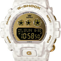 Casio Ladies Supra G-Shock Watch - White and Gold - 360 Polka Dot Pattern - 200M