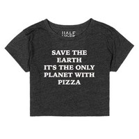 Save The Earth-Female Heather Onyx T-Shirt