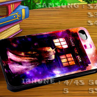 Police Public Call Box Nebula For iphone 4 iphone 5 samsung galaxy s4 / s3 / s2 Case Or Cover Phone.