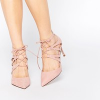 ASOS SOLAR Lace Up Pointed Heels