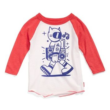 Boy's Prefresh 'Space Cat' Raglan Sleeve T-Shirt ,