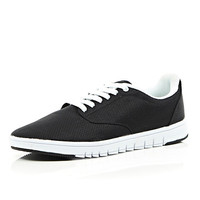 River Island MensBlack contrast sole sneakers
