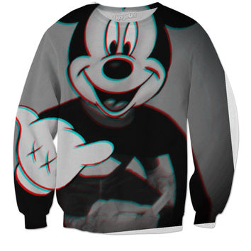 Trippy mickey mouse-sweatshirt