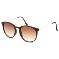 Full Tilt Circular Sunglasses Black One Size For Women 25375010001