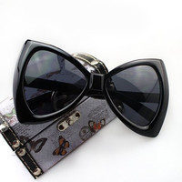 Sheer Full Frame Bow Shape Sunglasses