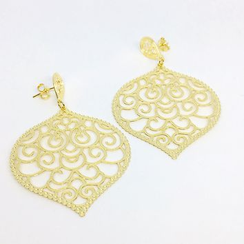 18KGL INDIAN GOLD EARRINGS